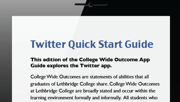 College Wide Outcomes - Twitter